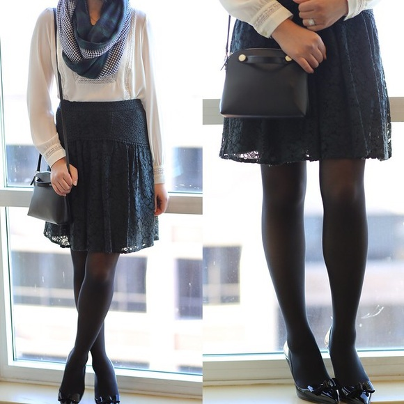 NWT Black Lace LOFT Skirt